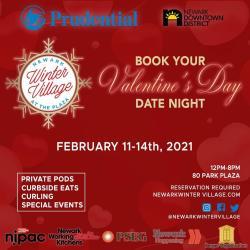 Newark Winter Village - At The Plaza Valentine Flyer
