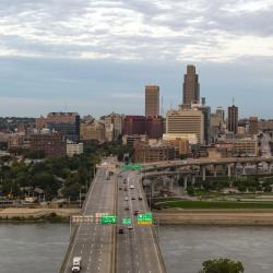 Omaha Skyline over Missouri River