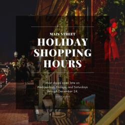 Holiday Shopping Hours
