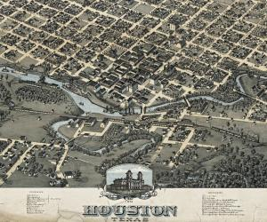 Old map of Houston