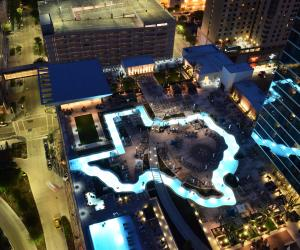 Marriott Marquis Pool Night
