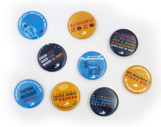 Visit Milwaukee DNC buttons