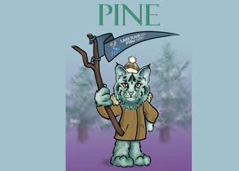 Pine mascot