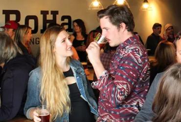 People enjoying beer