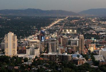 Summer Evening Salt Lake City Skyline