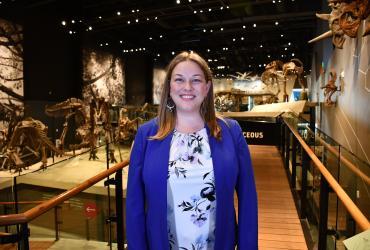 Carrie Levitt-Bussian at the Natural History Museum of Utah
