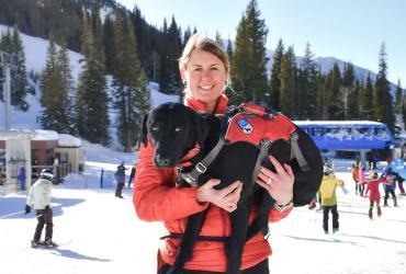 Marguerite Van Komen & Frank - Snowbird Avalanche Dogs