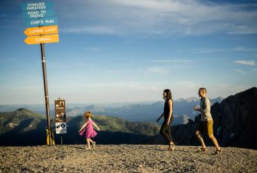 Family Hiking near Snowbird in Little Cottonwood Canyon
