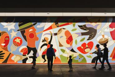 Mural outside the Eccles Theater