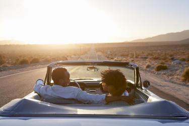 Couple in Car in Desert