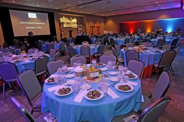 Blue Convention Center Setup