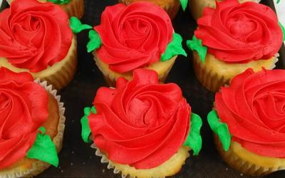 Cupcakes that look like roses