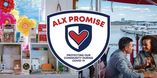 Alexandria Protecting Against Covid-19 Promise Banner
