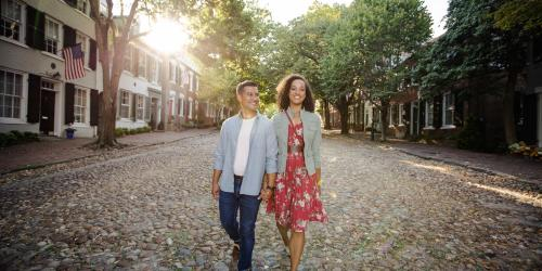 Couple on Cobblestones