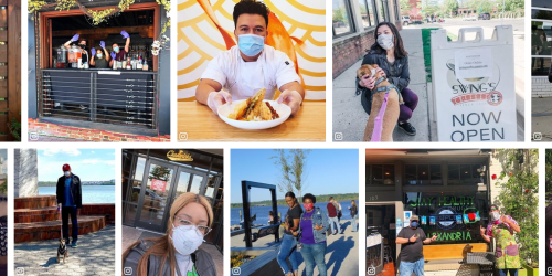 Collage of People Wearing Face Masks in Alexandra
