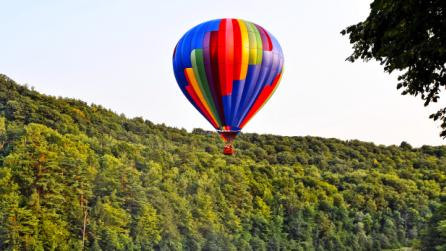 Balloons Over Letchworth at Middle Falls ©Larry Tetamore