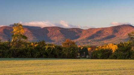 View of the Blackhead Range and Windham High Peak in Northern Catskills from Greenville, NY