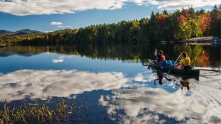 Second Pond part of the Saranac Lake Chain, Adirondacks
