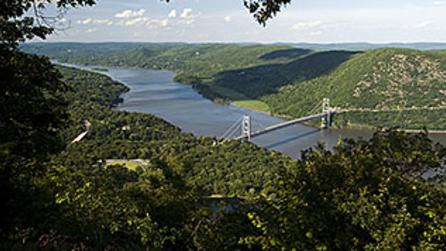 Bear Mountain Bridge & Hudson River from Bear Mountain State Park