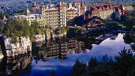 Aerial view of the Mohonk Mountain House