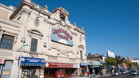 Exterior of Loews Paradise Theatre
