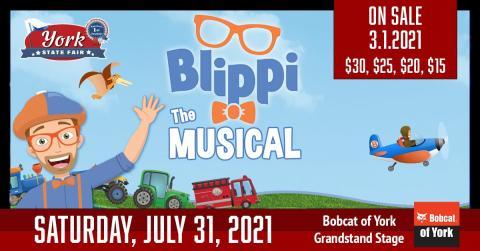 Promotional image for Blippi The Musical