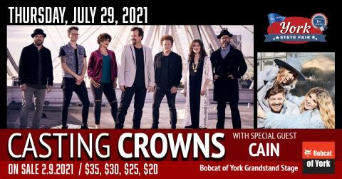 Promotional image for Casting Crowns performing at the York State Fair