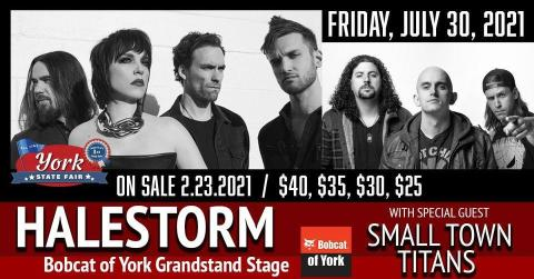 Promotional image for Halestorm and Small Town Titans