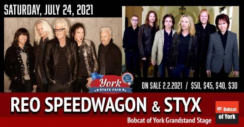 Promotional image for REO Speedwagon and Styx