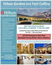 Hilton Garden Inn Weather Special Flyer