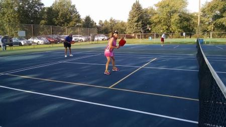 Pickleball can be played in many places within Hendricks County, including Arbuckle Acres Park in Brownsburg. (Photo credit: Hendricks County Flyer)