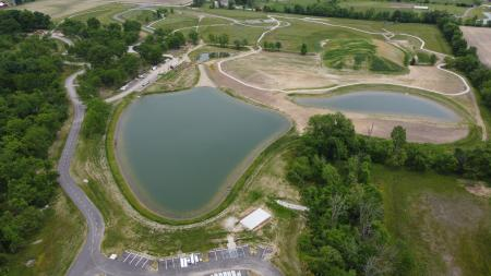 Aerial view of W.S. Gibbs Memorial Park (Photo courtesy of Town of Avon)