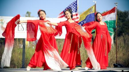 Dance performance at the International festival