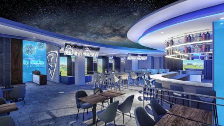 Inside of Lounge by Topgolf