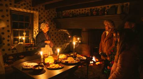 Candlelight tour 2019 at Peter Wentz Farmstead