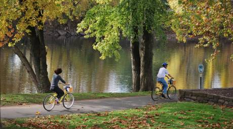 Schuylkill River Trail Biking in Fall