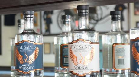 Five Saints Distilling Bottles