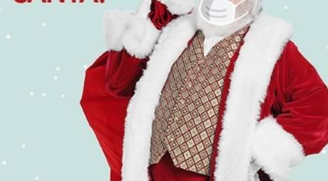santa mall face mask