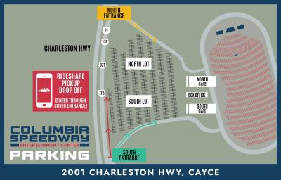 Cola Concerts Parking Map