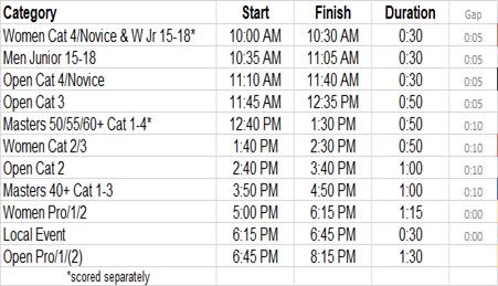 LCC - Event Schedule