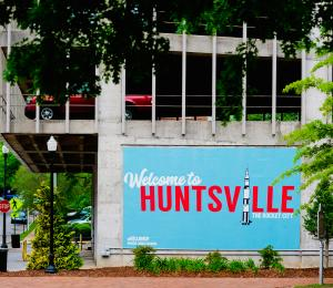 Welcome to Huntsville mural