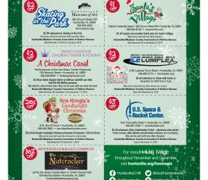 Huntsville holiday coupon pass 2018
