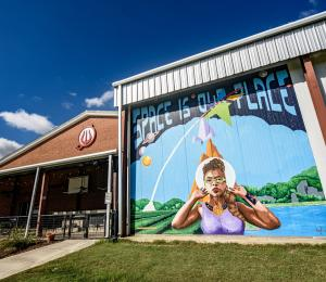 Space is Our Place mural - Jeff White