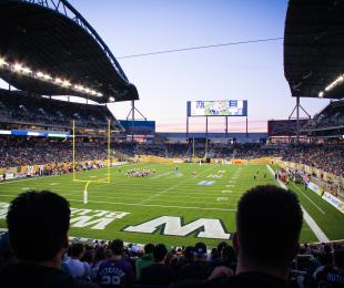 View of the Winnipeg football stadium