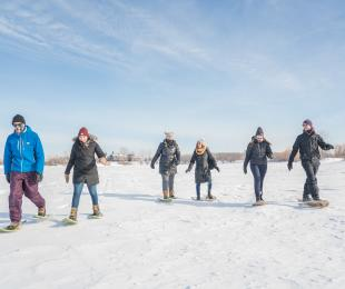 Snowshoeing at FortWhyte Alive