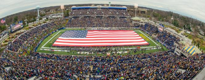 Giant US Flag in Stadium