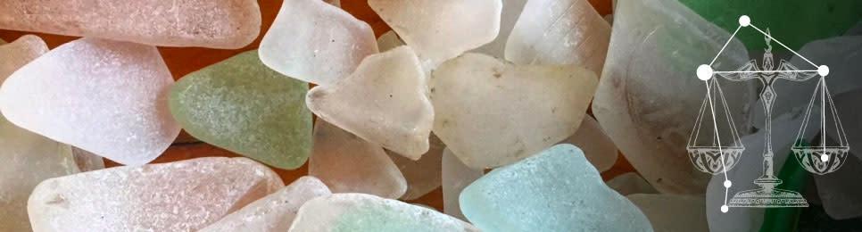 Zodiac Libra - Beach Glass