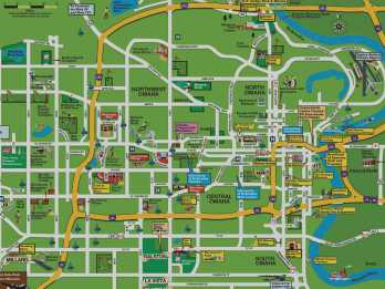 Map Of Omaha Nebraska Areas of Omaha   Neighborhoods   Downtown   Central