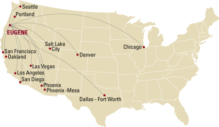 Eugene Airport Service Map