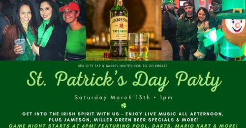 Spa City Tap & Barrel St. Patrick's Day